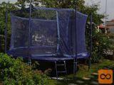 Trampolin, Jumpfree Exclusiv 14 + varnostna mreža + lestev
