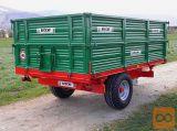 Prikolica BICCHI BRT 550, 5 ali 6 ton - NOVI MODEL