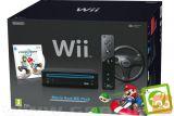 Nintendo Wii črn + USB Loader GX + Mario Kart + volan
