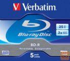 BLU-RAY 6x 25Gb  5-kos + zaščita Verbatim