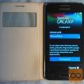 Samsung Galaxy Core2 črn + orig. preklop etui belo usnje