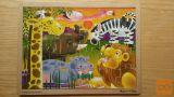 Lesene puzle afriške živali 4 x 6