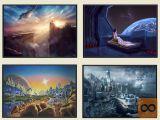 Nove Znanstveno Fantastične Slike ( 70x50cm ali 40x30cm )