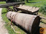 konjski voz z cisterno in lojtrnik